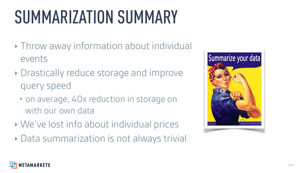 2014 ‣ Throw away information about individual ...