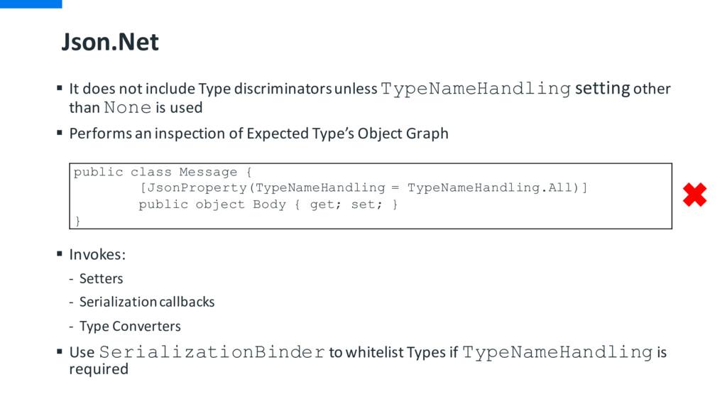 Json.Net § It does not include Type discriminat...