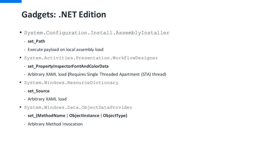 Gadgets: .NET Edition § System.Configuration.In...