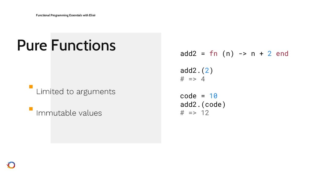 Pure Functions Functional Programming Essential...