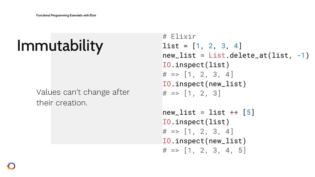 Immutability Functional Programming Essentials ...