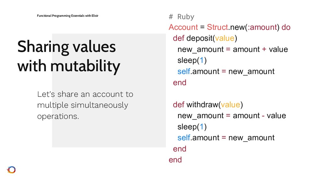 Sharing values with mutability Functional Progr...