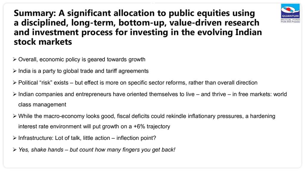 Summary: A significant allocation to public equ...