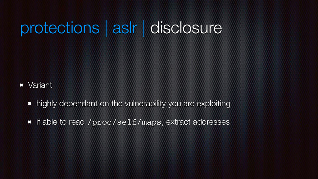 protections | aslr | disclosure Variant highly ...
