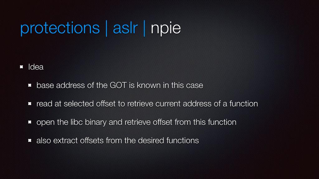 protections | aslr | npie Idea base address of ...