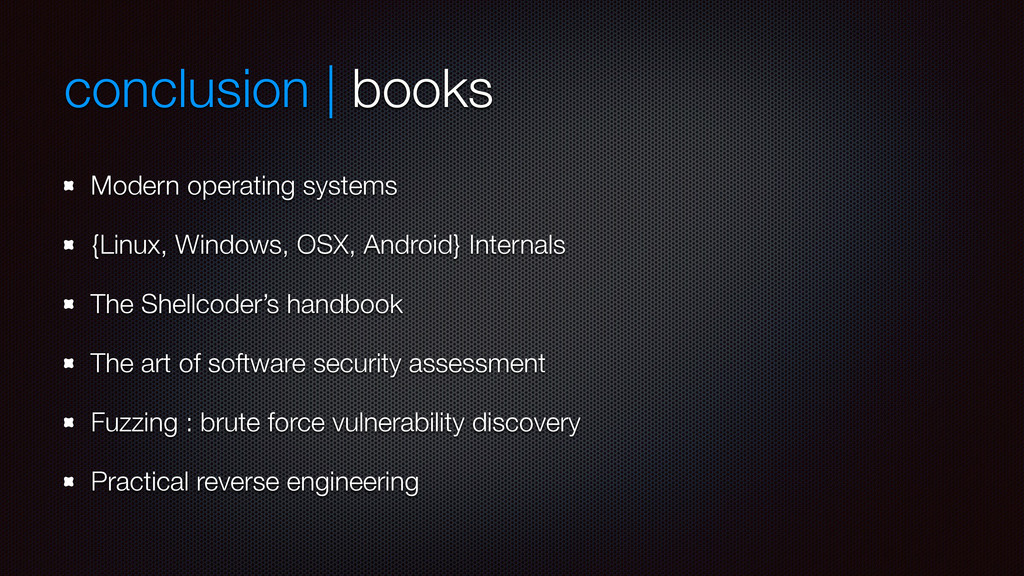 conclusion | books Modern operating systems {Li...
