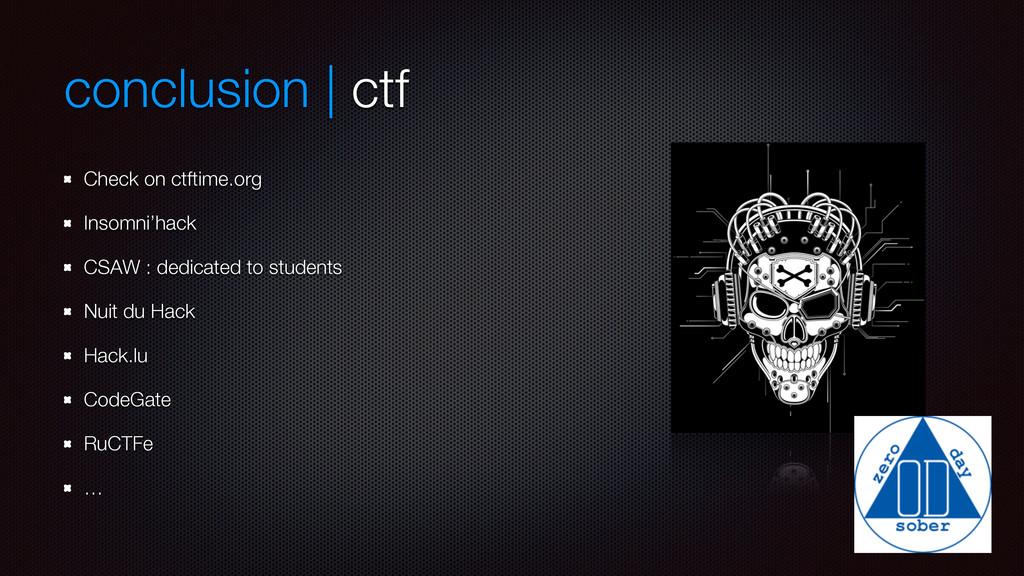 conclusion | ctf Check on ctftime.org Insomni'h...