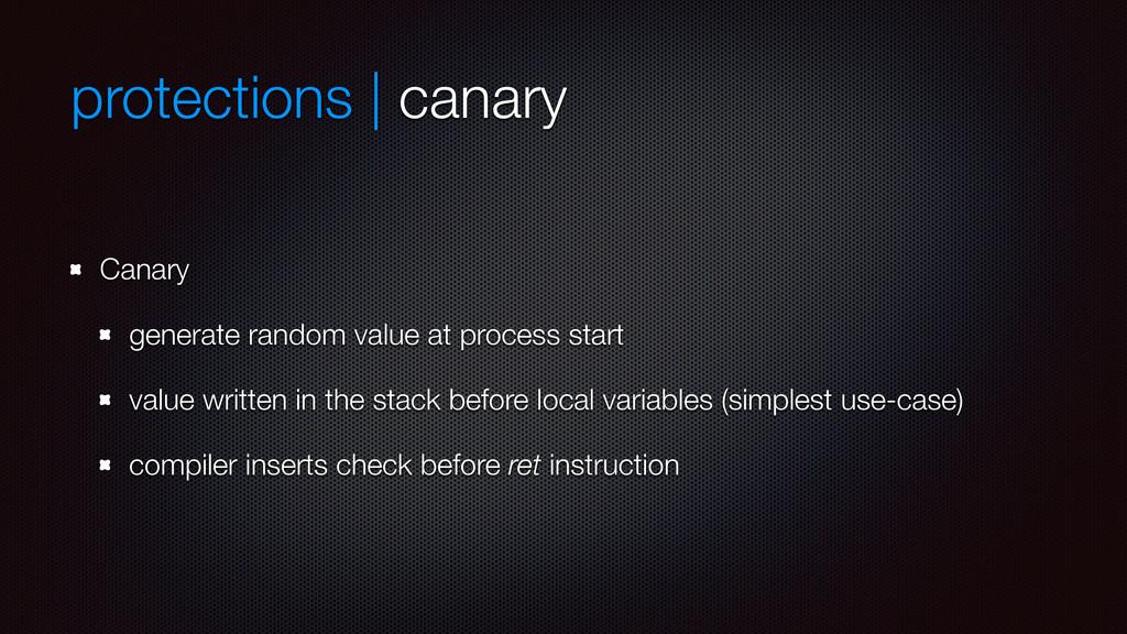 protections | canary Canary generate random val...