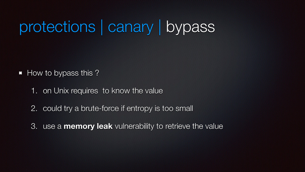protections | canary | bypass How to bypass thi...