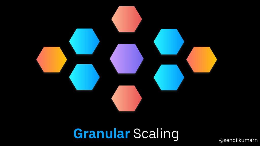 @sendilkumarn Granular Scaling