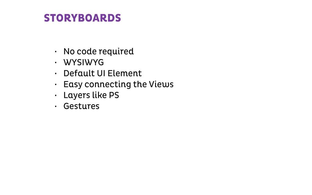STORYBOARDS • No code required • WYSIWYG • Defa...