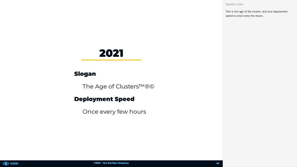 VSHN – The DevOps Company Slogan The Age of Clu...