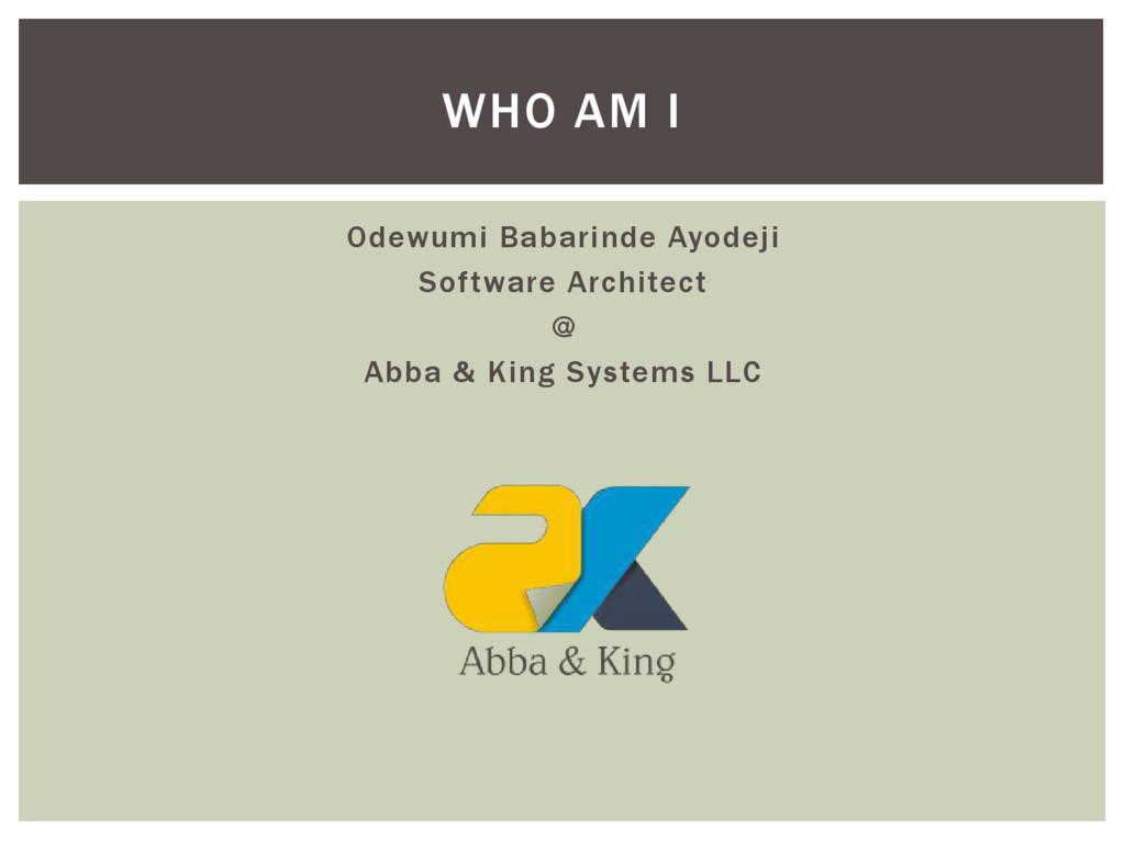 Odewumi Babarinde Ayodeji Software Architect @ ...