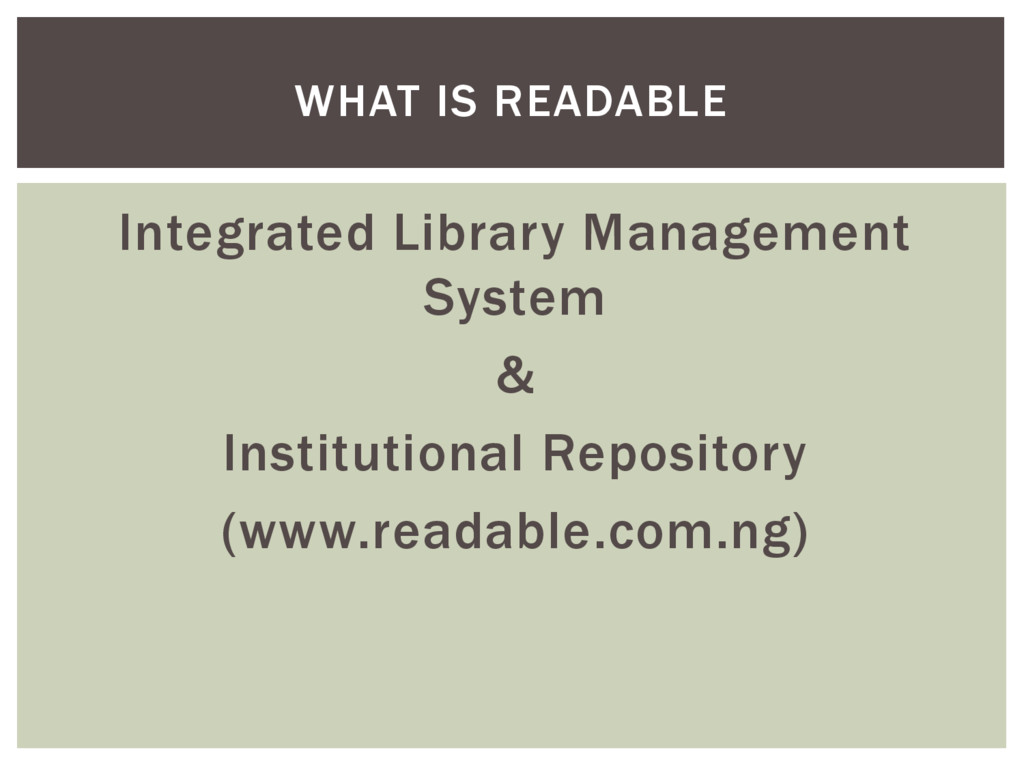Integrated Library Management System & Institut...