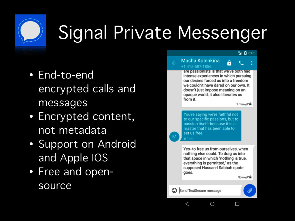 Signal Private Messenger • End-to-end encrypted...