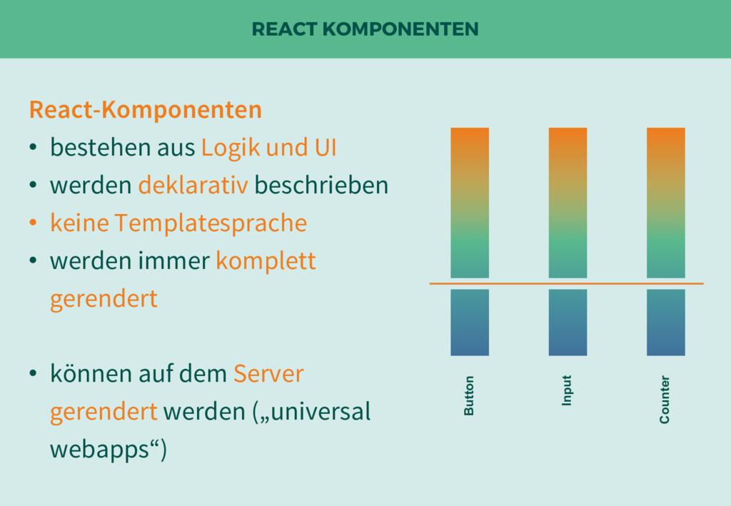 REACT KOMPONENTEN React-Komponenten • bestehen ...