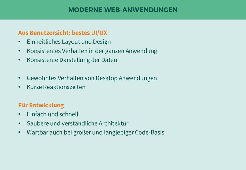 MODERNE WEB-ANWENDUNGEN Aus Benutzersicht: best...