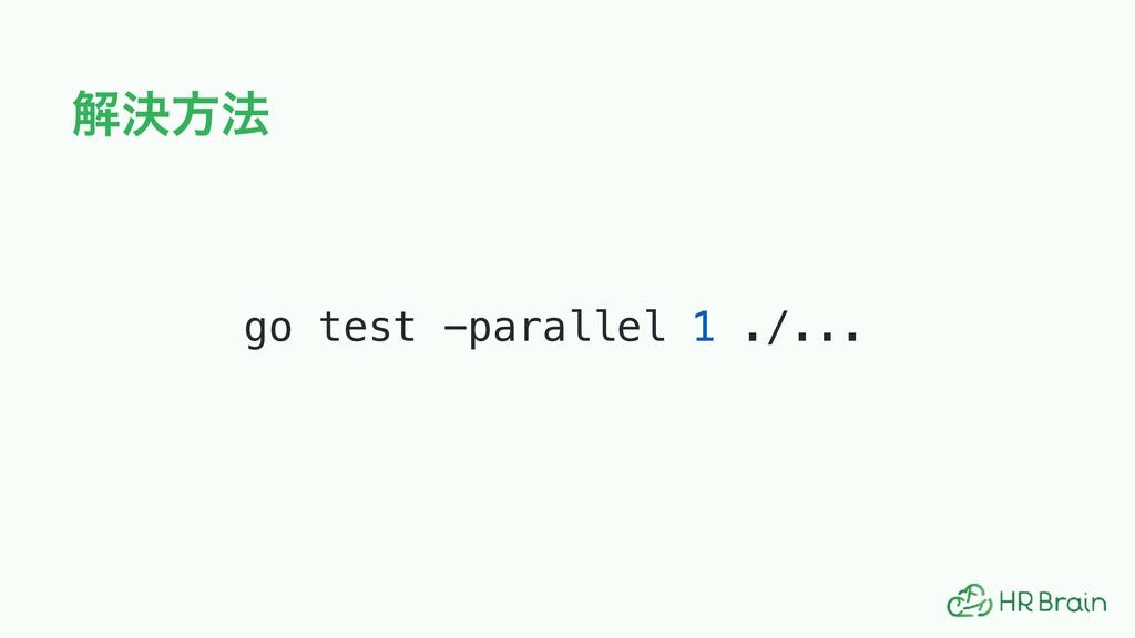 ղܾํ๏ go test -parallel 1 ./...