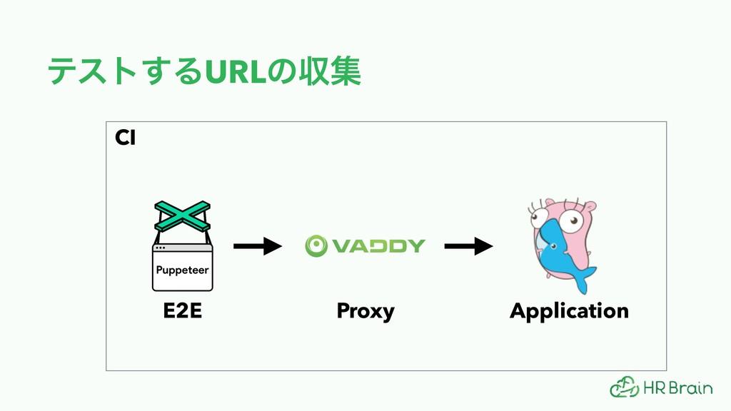 ςετ͢ΔURLͷऩू CI Application Proxy E2E