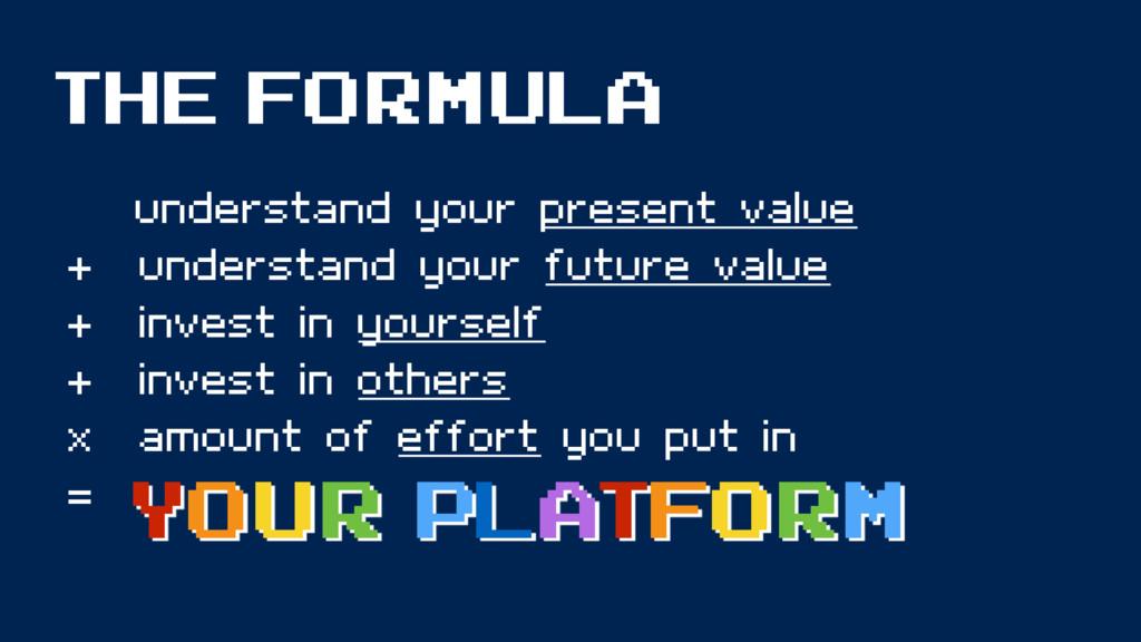 THE FORMULA understand your present value + und...