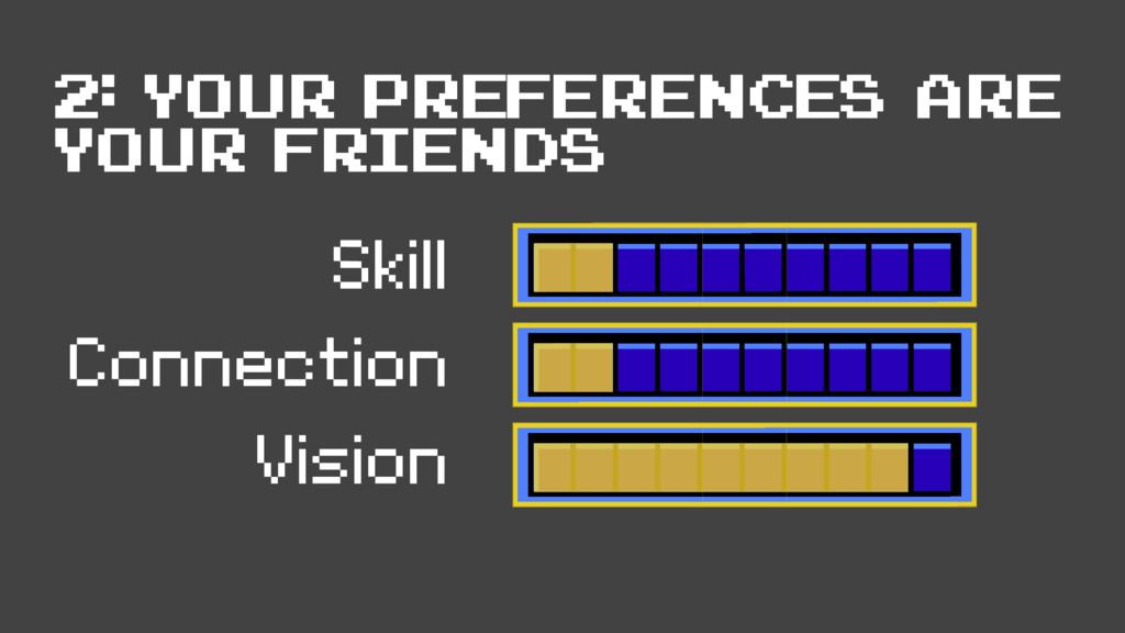 Skill Connection Vision 2: your preferences are...