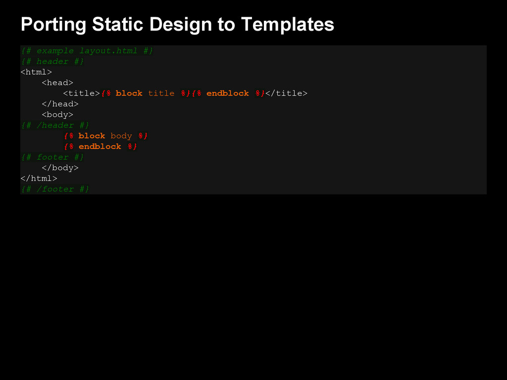 Porting Static Design to Templates {# example l...