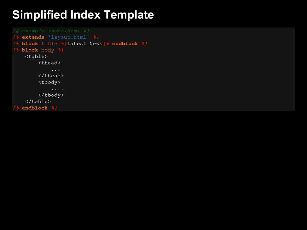 Simplified Index Template {# example index.html...