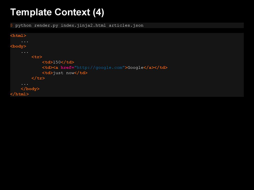 Template Context (4) $ python render.py index.j...