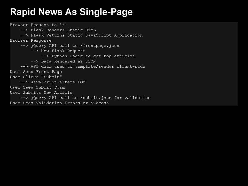 Rapid News As Single-Page Browser Request to '/...