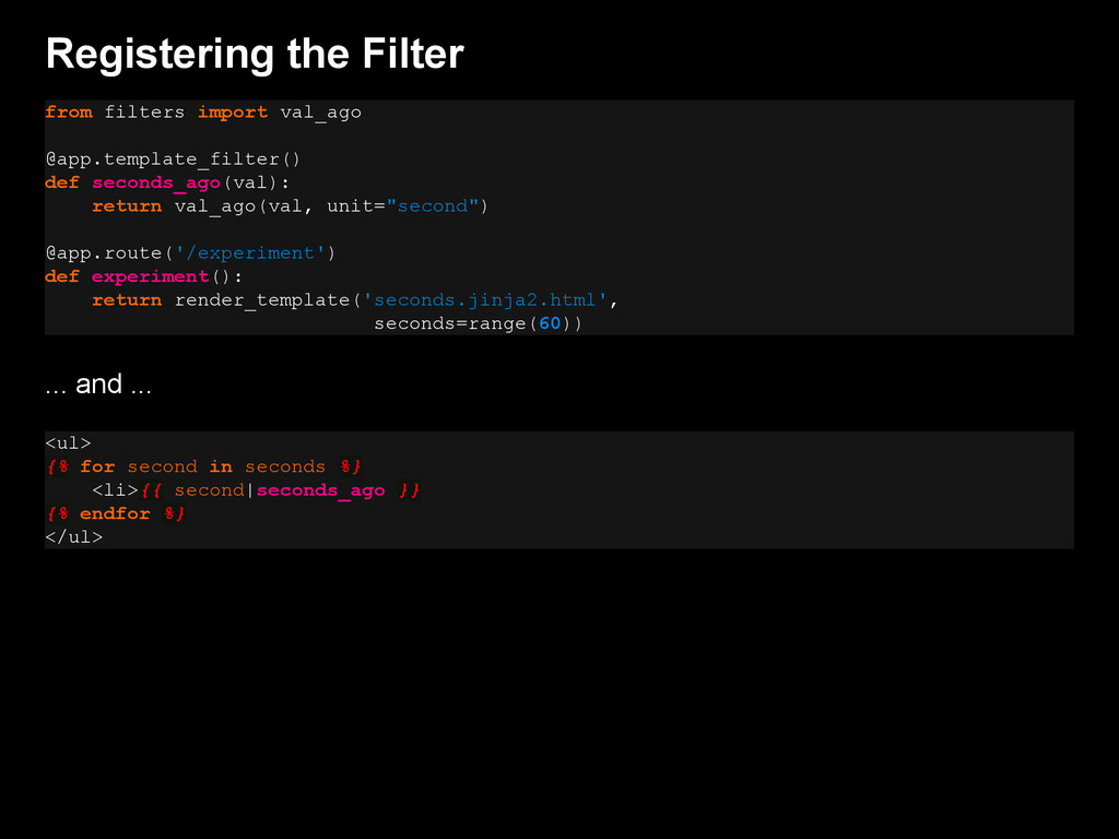 Registering the Filter from filters import val_...