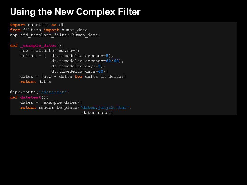 Using the New Complex Filter import datetime as...