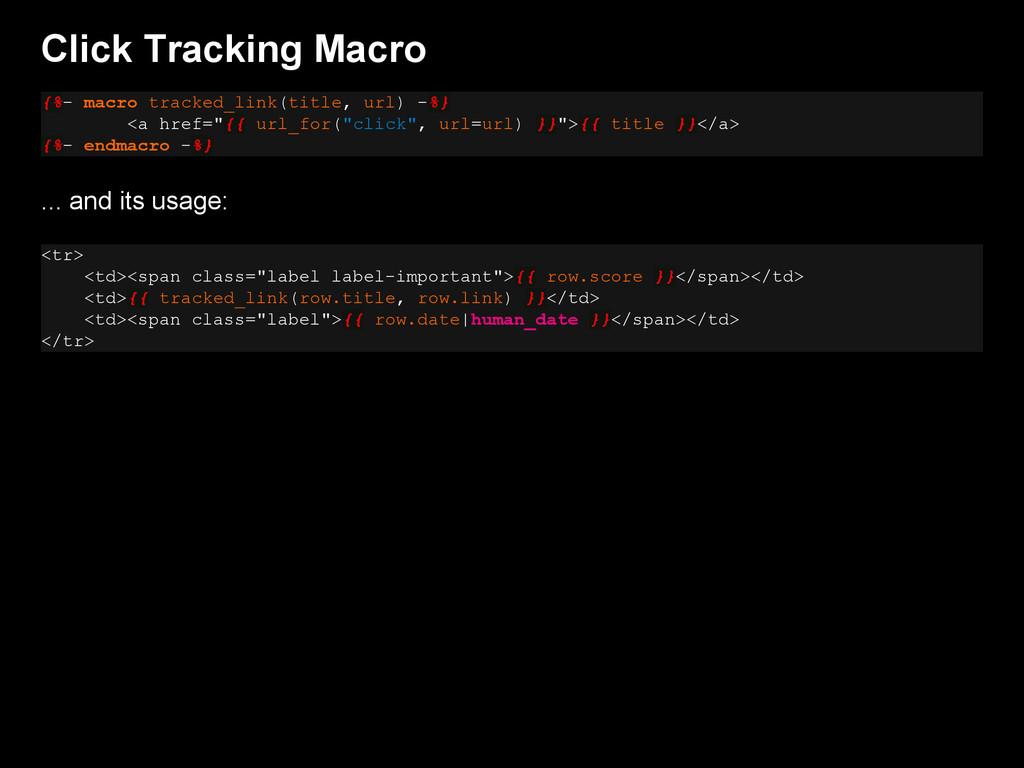 Click Tracking Macro {%- macro tracked_link(tit...