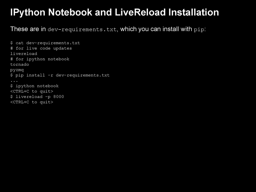 IPython Notebook and LiveReload Installation Th...