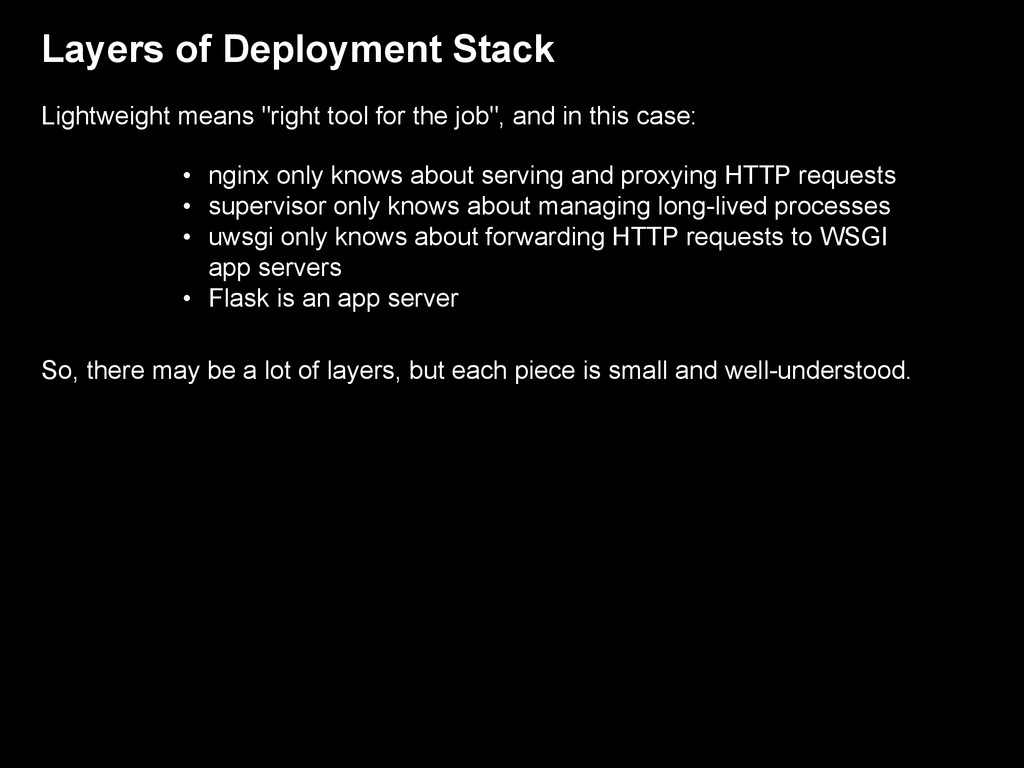 """Layers of Deployment Stack Lightweight means """"r..."""