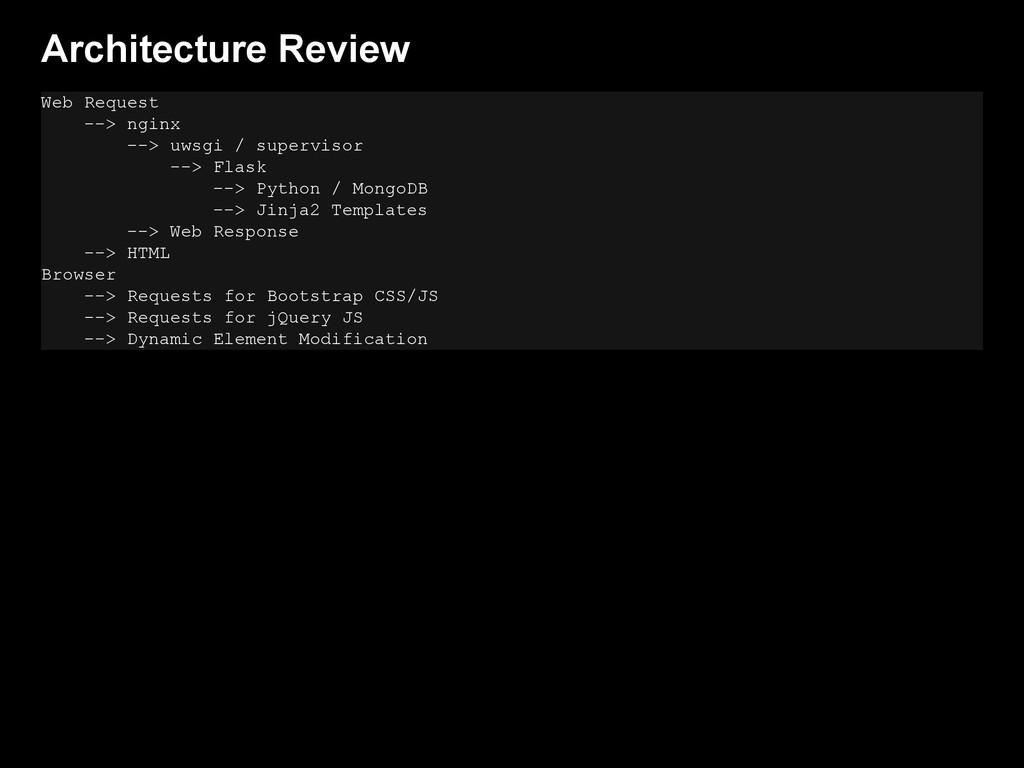 Architecture Review Web Request --> nginx --> u...