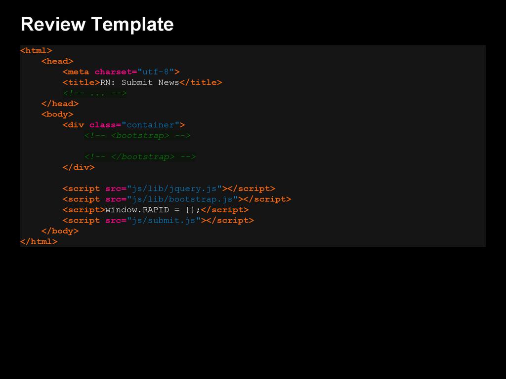 "Review Template <html> <head> <meta charset=""ut..."