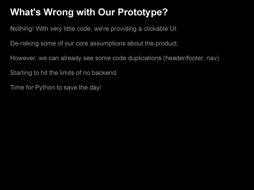 What's Wrong with Our Prototype? Nothing! With ...