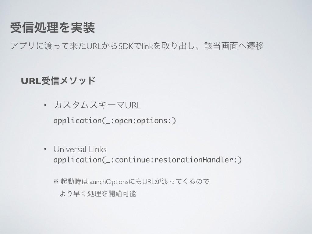 ड৴ॲཧΛ࣮ ΞϓϦʹͬͯདྷͨURL͔ΒSDKͰlinkΛऔΓग़͠ɺ֘ը໘ભҠ URL...