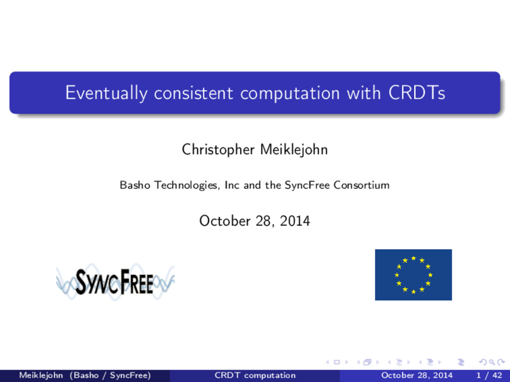 Eventually consistent computation with CRDTs Ch...
