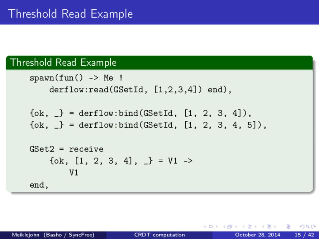 Threshold Read Example Threshold Read Example s...