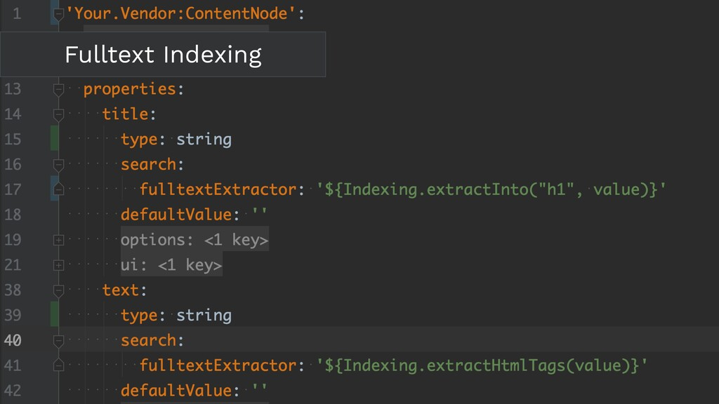 Fulltext Indexing