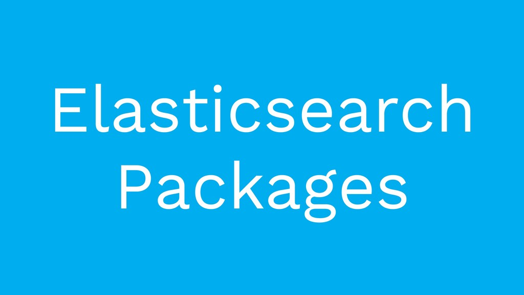 Elasticsearch Packages