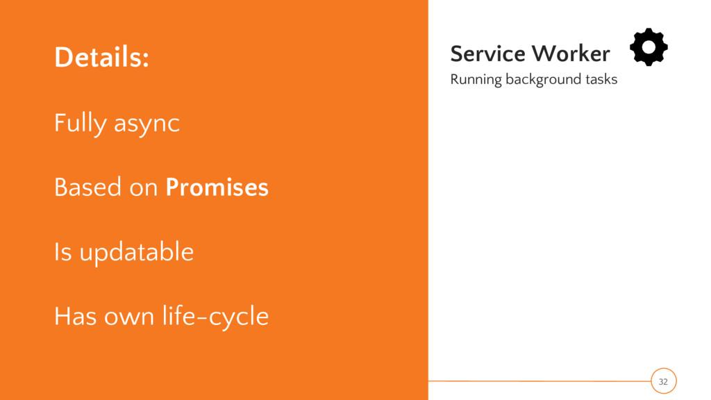 Details: Fully async Based on Promises Is updat...