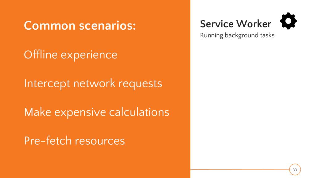 Common scenarios: Offline experience Intercept ...