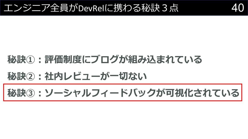40   DevRel +,-*&#! $% ...