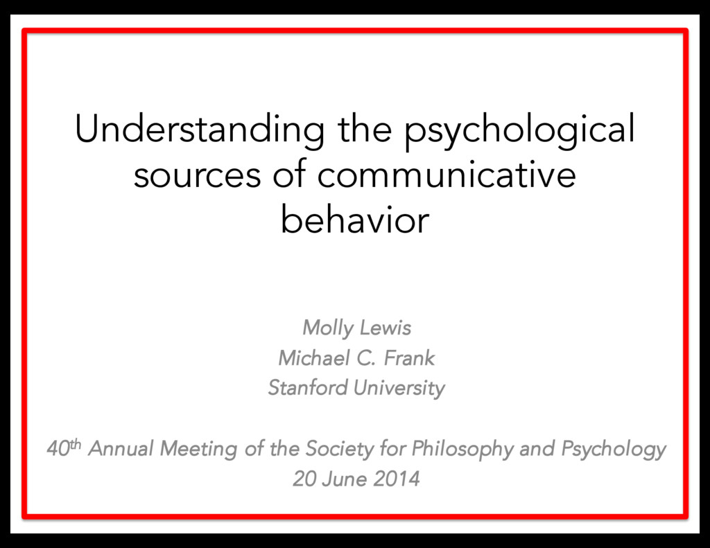 Understanding the psychological sources of comm...