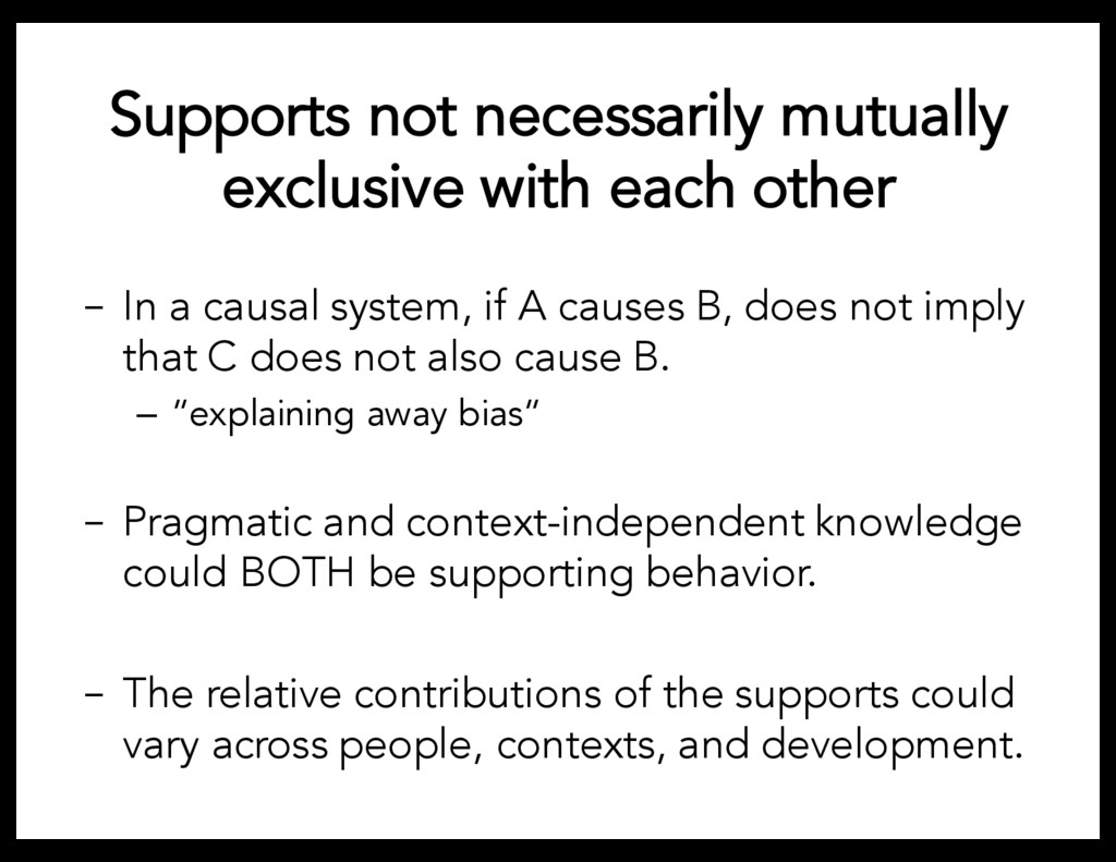 Supports not necessarily mutually exclusive wit...