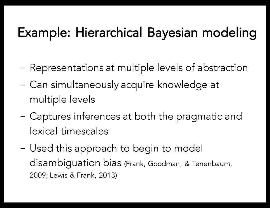Example: Hierarchical Bayesian modeling - Repre...