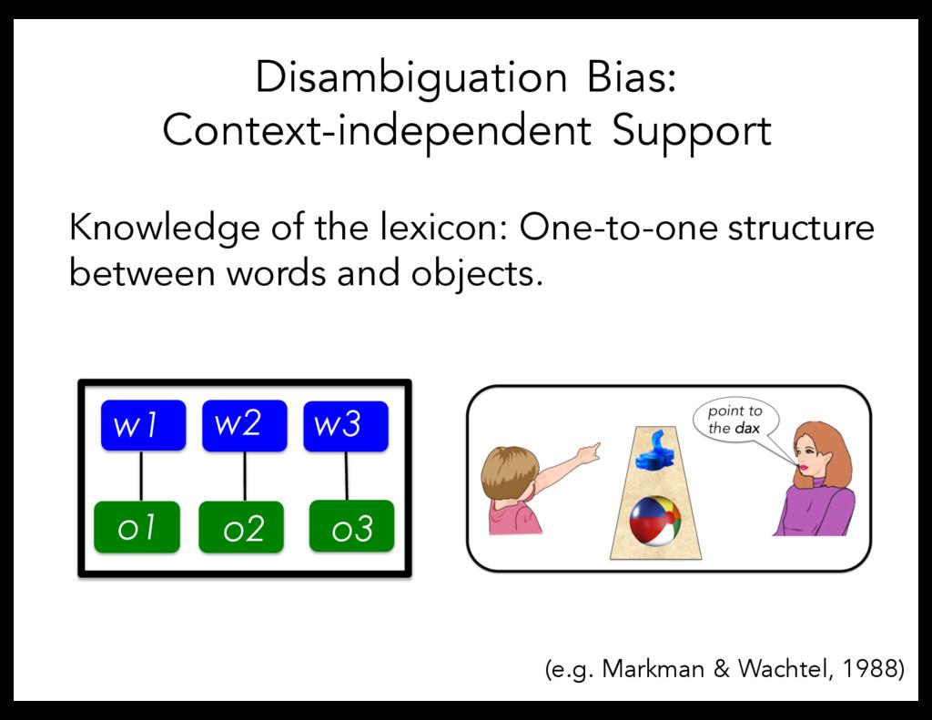 Disambiguation Bias: Context-independent Suppor...