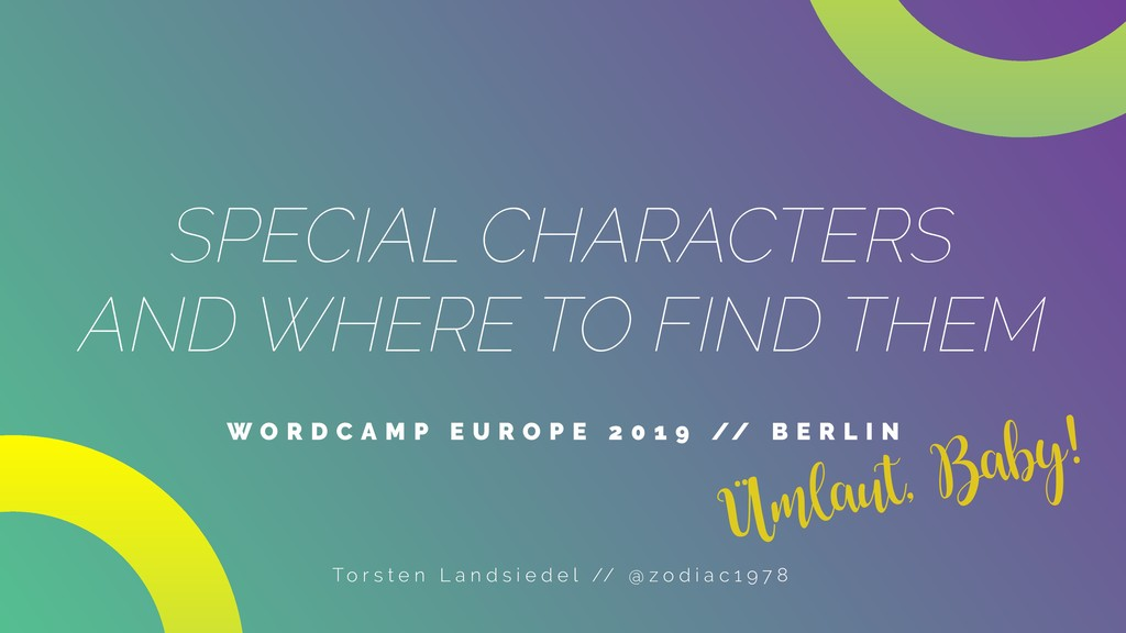 SPECIAL CHARACTERS AND WHERE TO FIND THEM W O R...